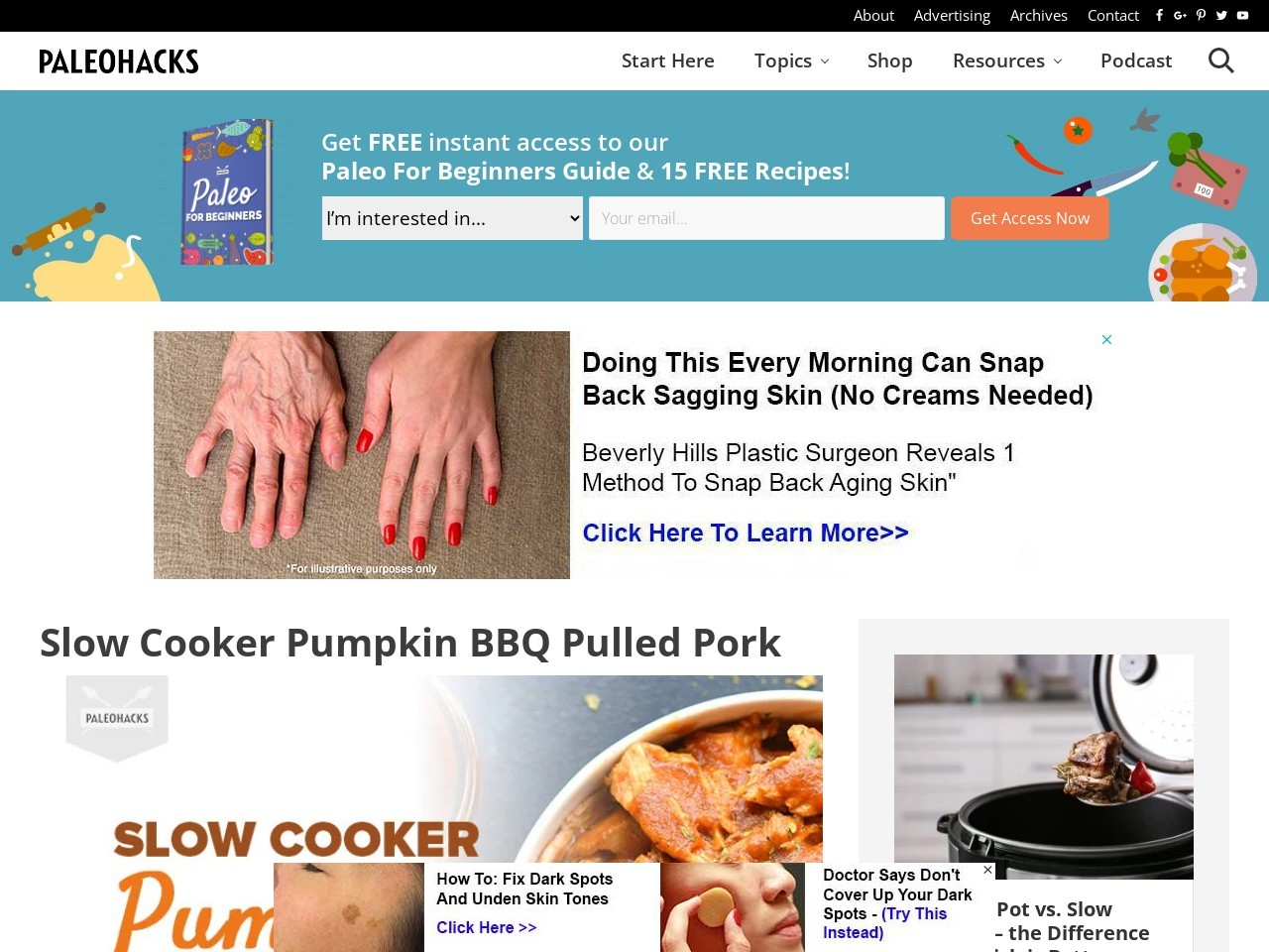 Slow Cooker Pumpkin BBQ Pulled Pork