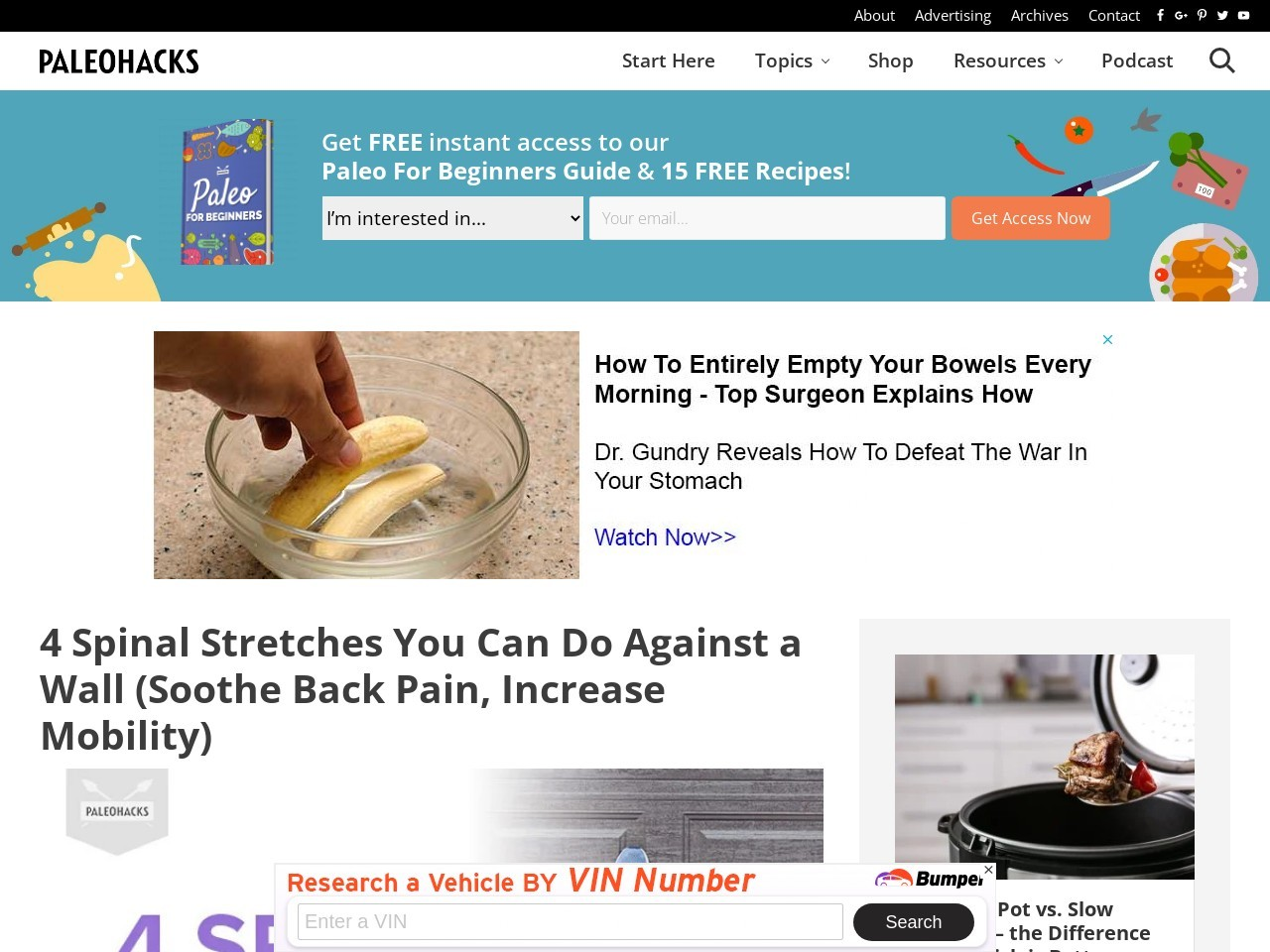 4 Spinal Stretches You Can Do Against a Wall (Soothe Back Pain, Increase Mobility)