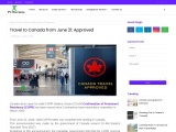 Travel to Canada from June 21: Approved