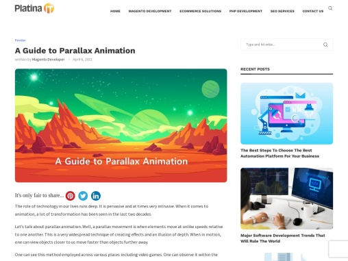 Overview on Parallax Animation and Scrolling