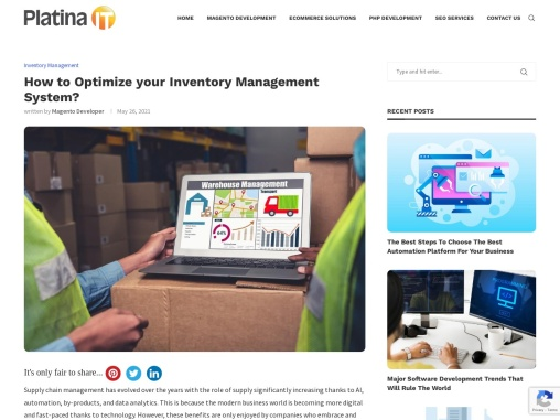 How to Optimize your Inventory Management System