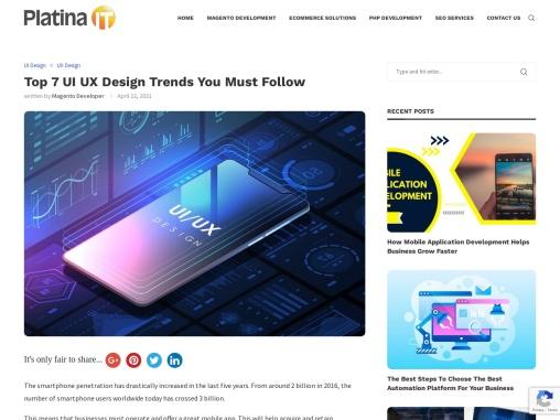 Top 7 UI UX Design Trends You Must Follow