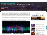 Amusing experience at Palm Jumeirah's dancing fountain show