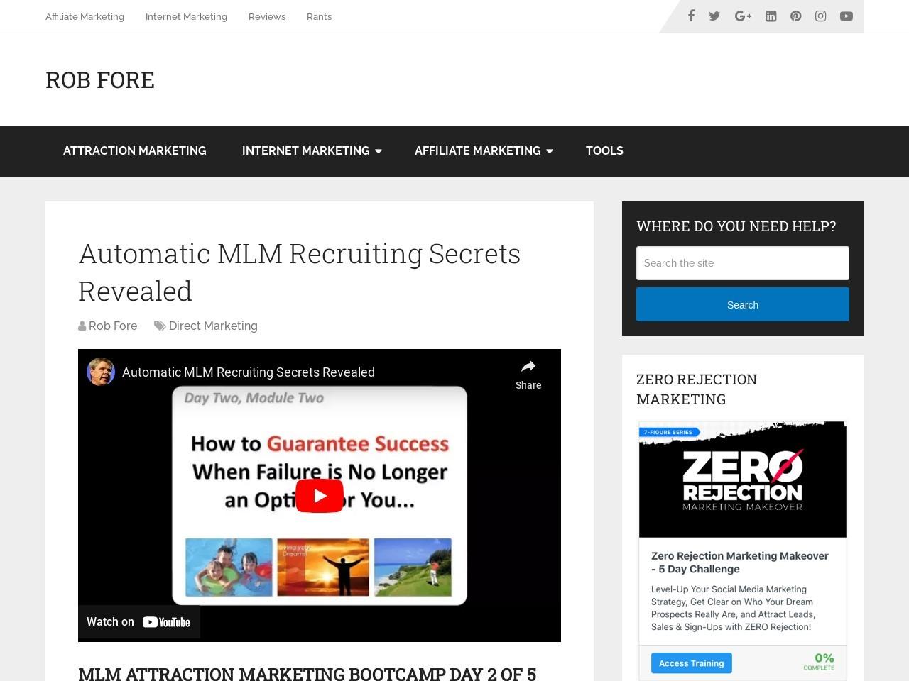 Automatic MLM Recruiting Secrets Revealed