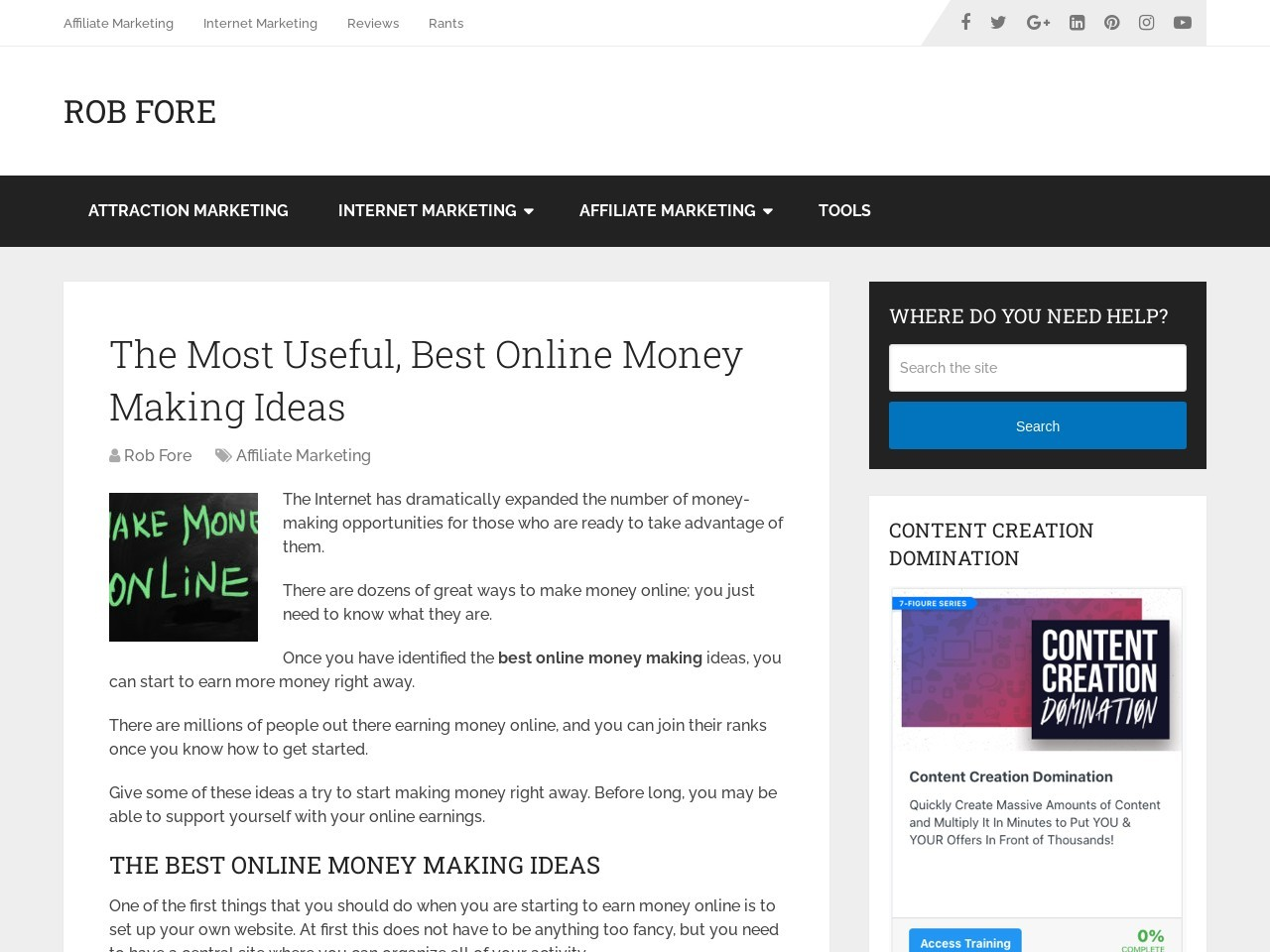 The Most Useful, Best Online Money Making Ideas
