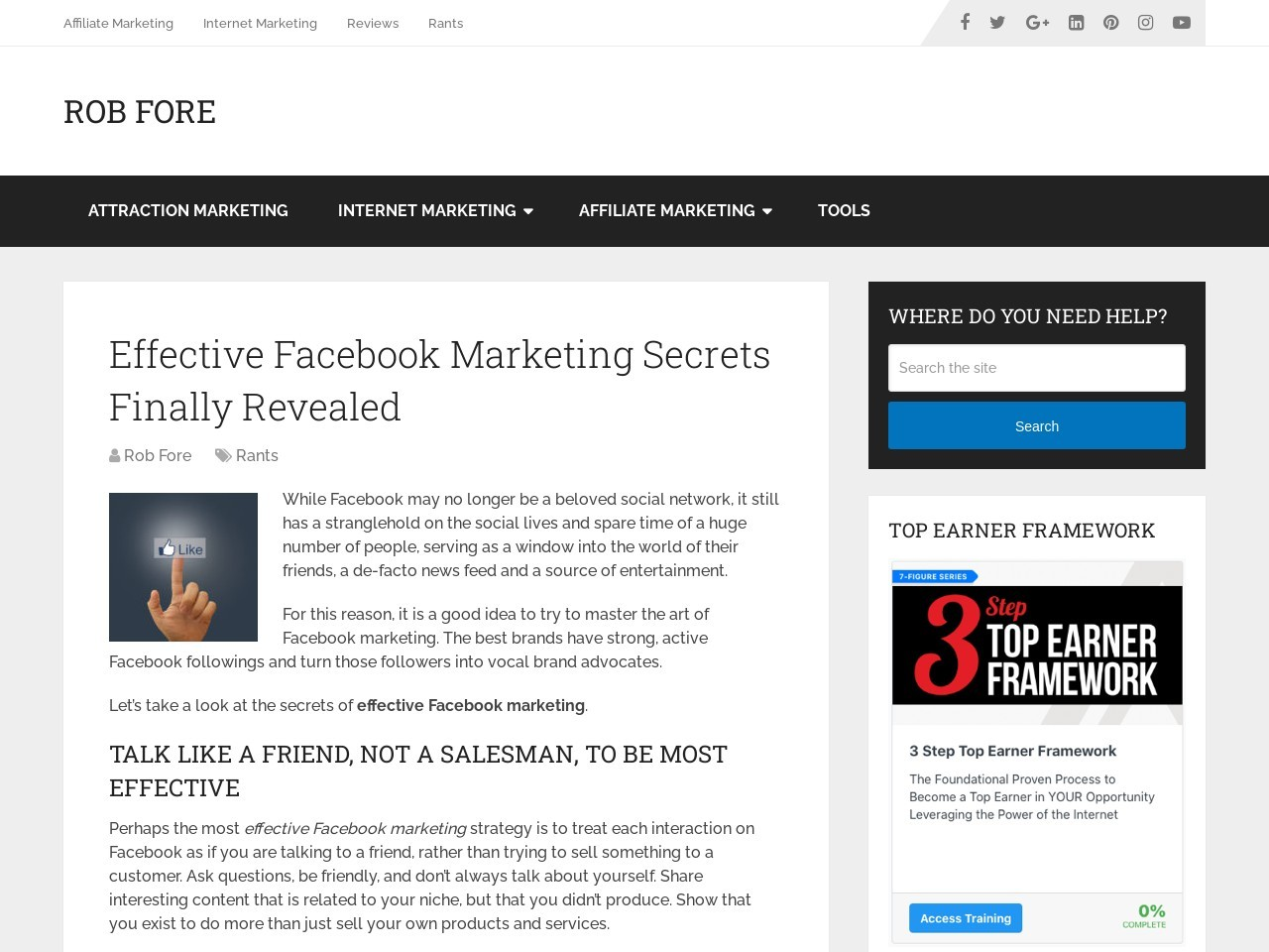 Effective Facebook Marketing Secrets Finally Revealed