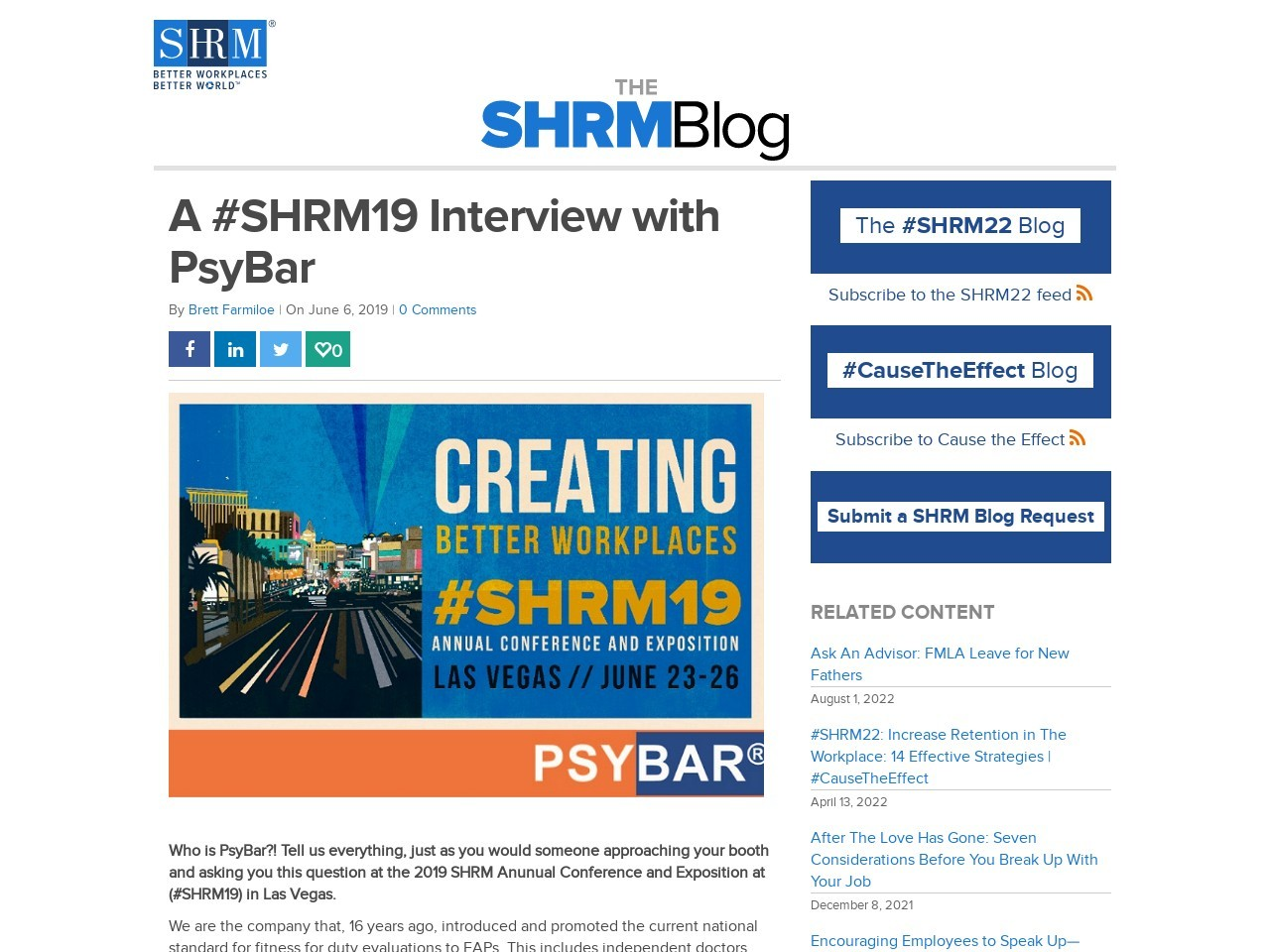 A #SHRM19 Interview with PsyBar