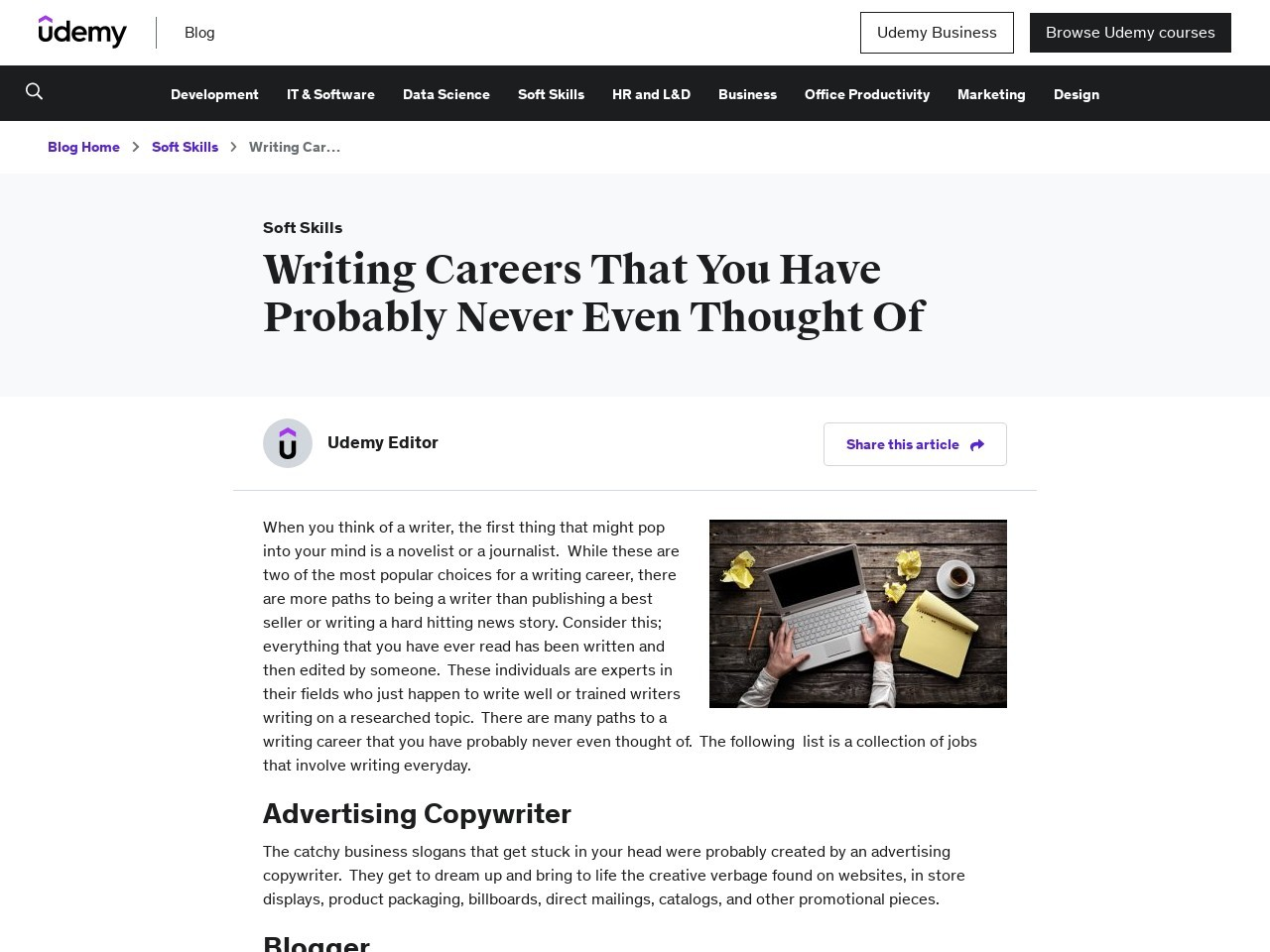 Writing Careers That You Have Probably Never Even … – Blog