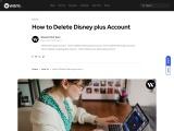How to Delete a Disney+ Profile   Delete Disney+ Account   blog.waredot