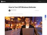 How to Turn Off Windows Defender – Waredot