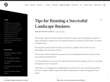 Tips for Running a Successful Landscape Business