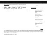 Advantages of using PVDF Coating Aluminium Composite Panels