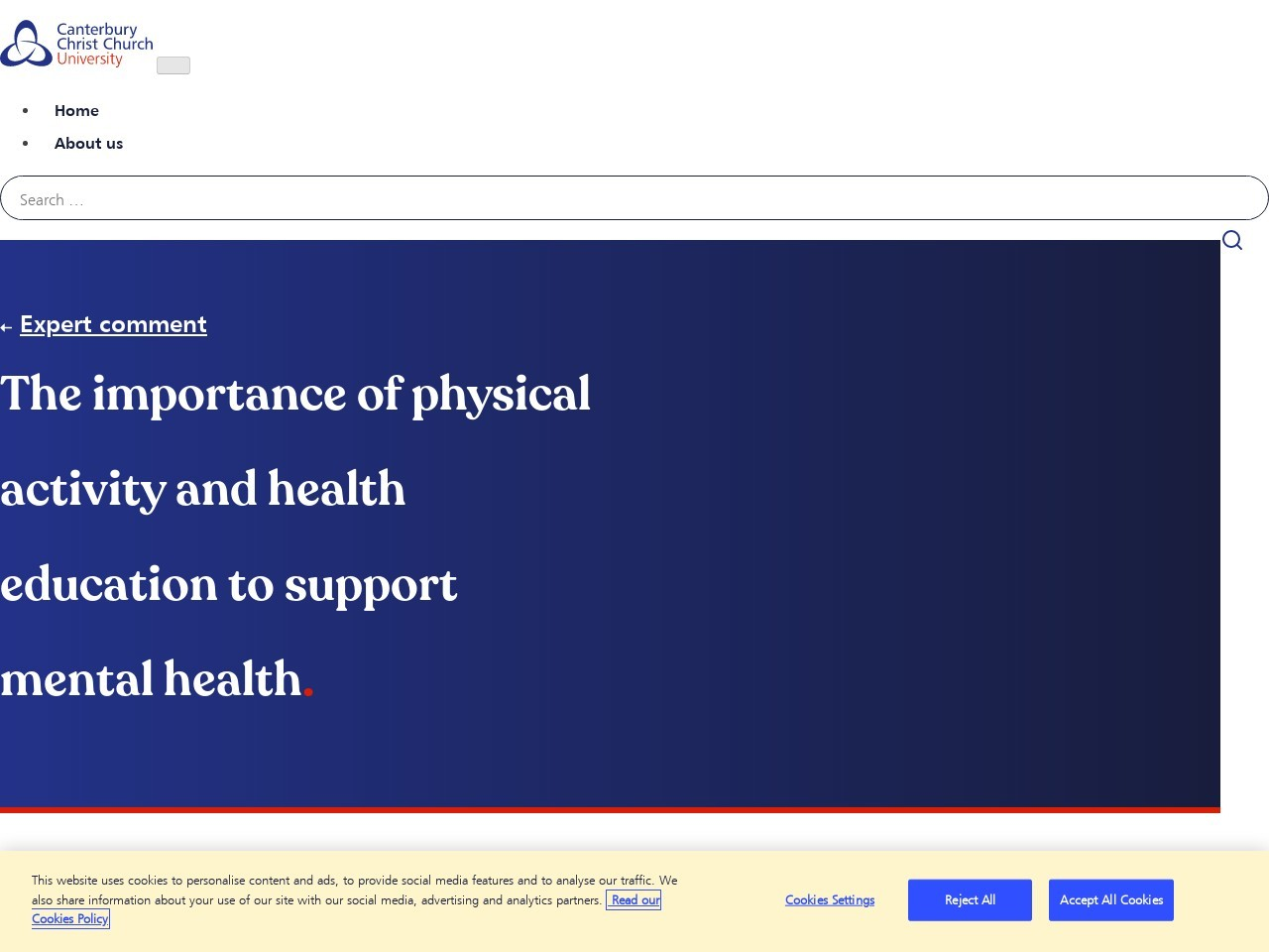The importance of physical activity and health education to support…
