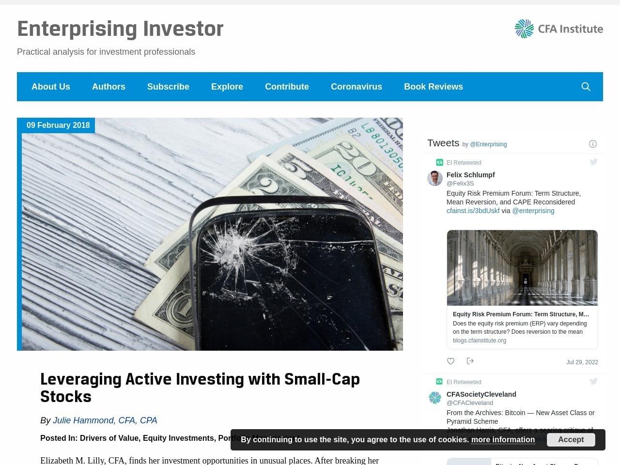 Leveraging Active Investing with Small-Cap Stocks