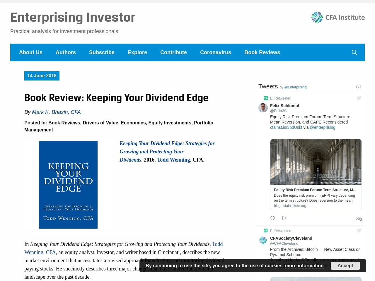 Book Review: Keeping Your Dividend Edge