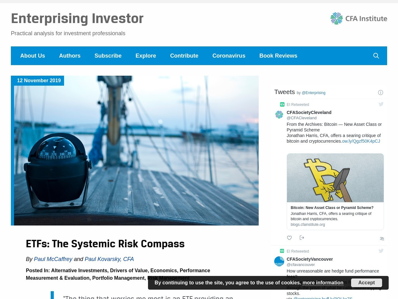 ETFs: The Systemic Risk Compass