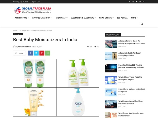 Best Baby Moisturizers In India