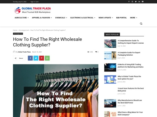 How To Find The Right Wholesale Clothing Supplier?