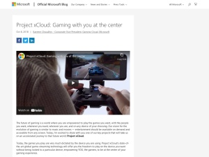 Project xCloud: Gaming with you at the center - The Official Microsoft Blog