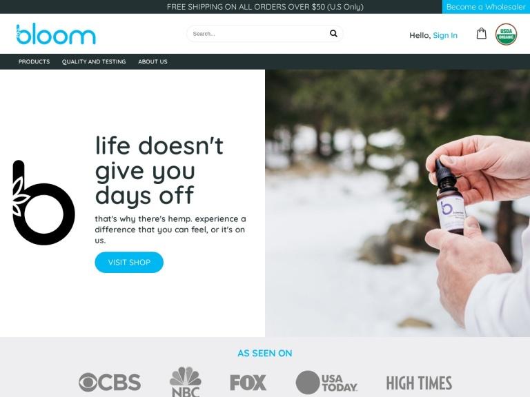 Bloom Hemp screenshot