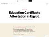 Education Certificate Attestation in Egypt.
