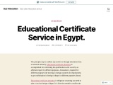 Educational Certificate Service in Egypt.