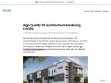 3D Architectural Rendering in India-High Quality  Rendering