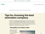 Tips for choosing the finest animation company