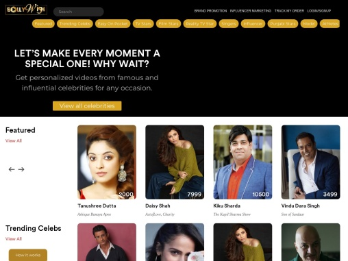 Attract leads for your Brand promotion with Celebrity shout out from Bollywish