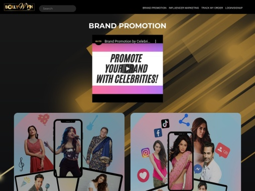 Celebrity shout out and video celebs for brand promotion with Bollywish