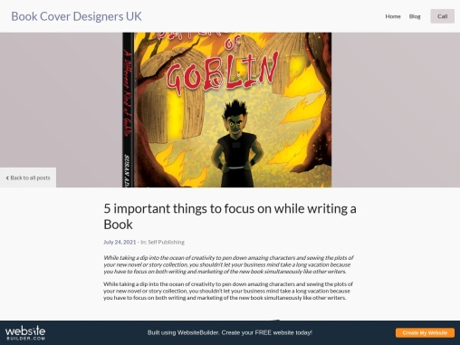 5 important things to focus on while writing a Book