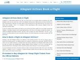 Allegiant Airlines Booking | +1 860 321 6827