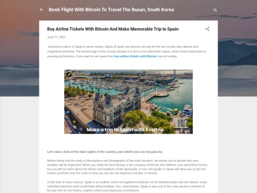 Buy Airline Tickets With Bitcoin And Make Memorable Trip to Spain