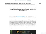 Buy Flight Tickets With Bitcoin to Visit In South Korea