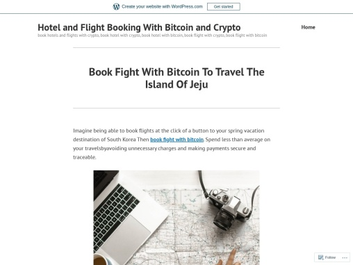Book Fight With Bitcoin To Travel The Island Of Jeju