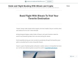 Book Flight With Bitcoin To Visit Your Favorite Destination