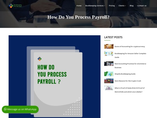 How Do You Process Payroll?There are three ways you can do payroll. One, you can do it yourself manu