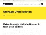 Storage Units Boston | Boston Space Storage