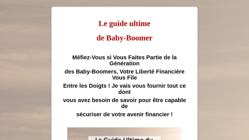le guide ultime du baby-boomer