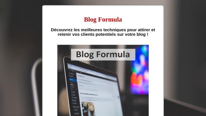 blog formula - attirer, retenir et fideliser !