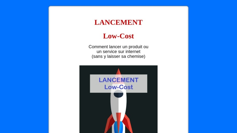 lancement low-cost