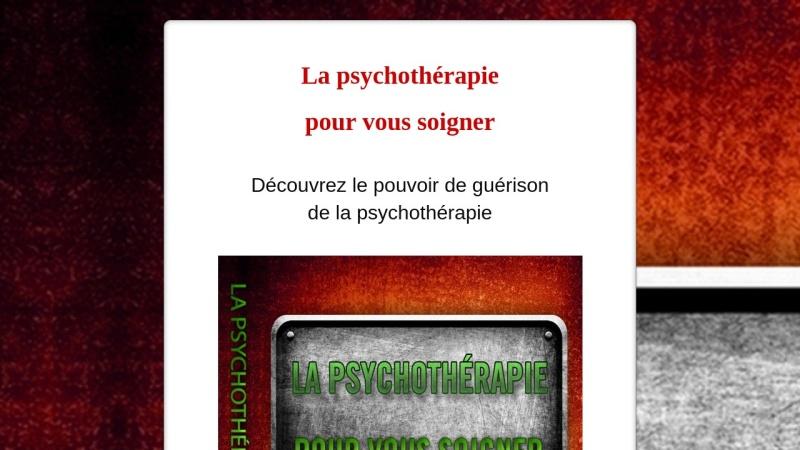 la psychotherapie pour vous soigner