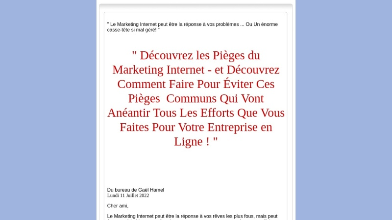 les pieges du marketing internet