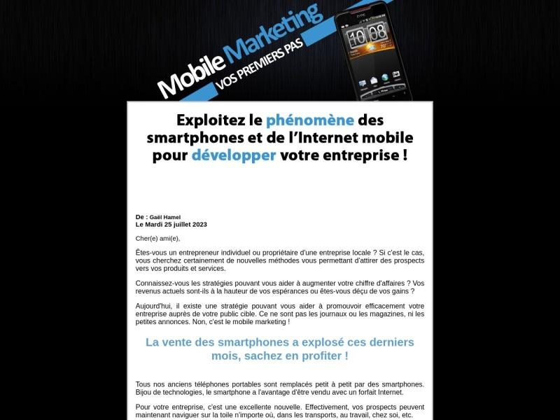 mobile marketing - vos premiers pas