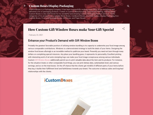 Get the most stylish Window Gift Boxes Wholesale