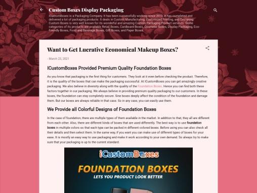 ICustomBoxes Provided Premium Quality Foundation Boxes