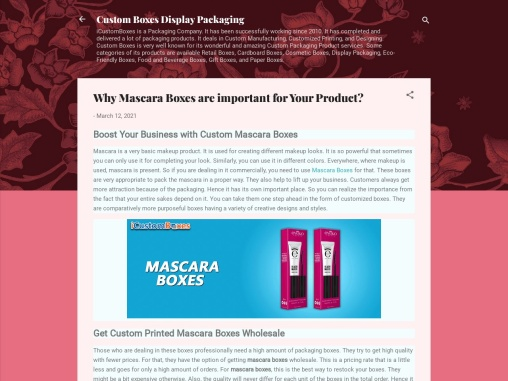 Boost Your Business with Custom Mascara Boxes
