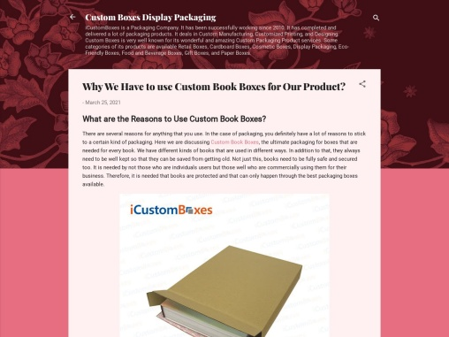 What are the Reasons to Use Custom Book Boxes?