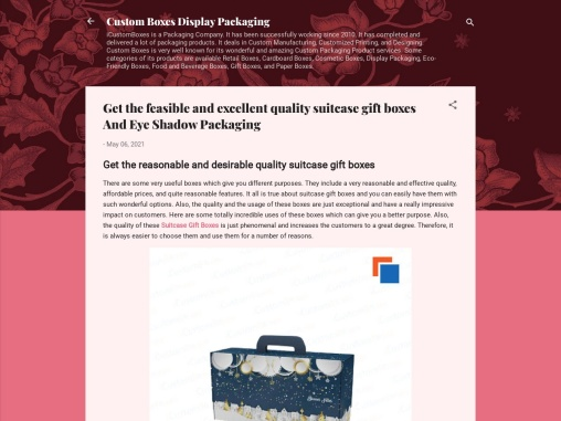 Get The Feasible And Excellent Quality Suitcase Gift Boxes