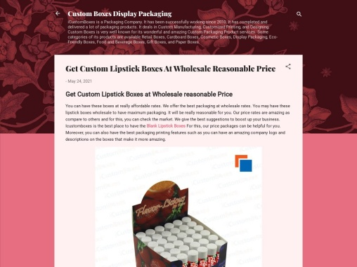 Get Custom Lipstick Boxes At Wholesale Reasonable Price